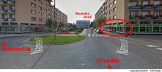 Mapa predajne street